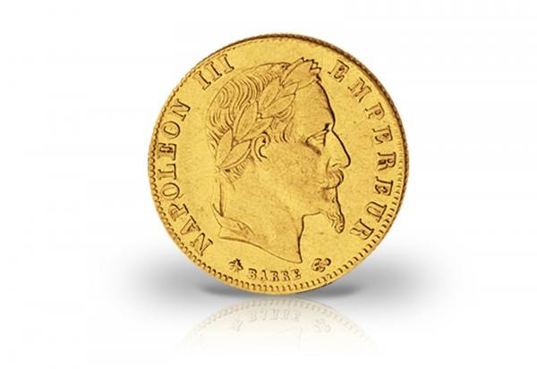 Frankreich 5 Francs Goldmünze Napoleon Iii Mit Kranz 1862 1868
