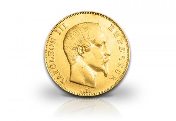 Frankreich 50 Francs 1855 1859 Goldmünze Napoleon Iii Ohne