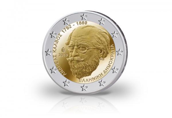 2 Euro 2019 Griechenland 150. Todestag Andreas Kalvos