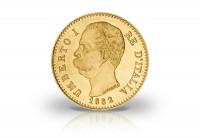 Zusatzbild zu 20 Lire Goldmünze 1878-1900 Italien Umberto I.