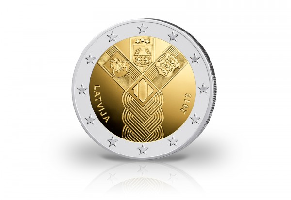 Lettland 2 Euro 2018 100 Jahre Unabhängigkeit Baltische