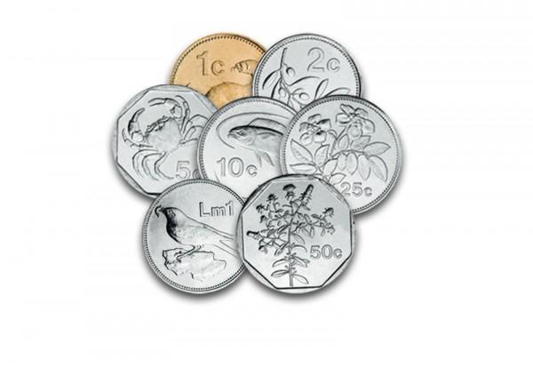 Malta Voreurosatz 1 Cent Bis 1 Lira Bankfrisch Vor Euro Münzen Aus