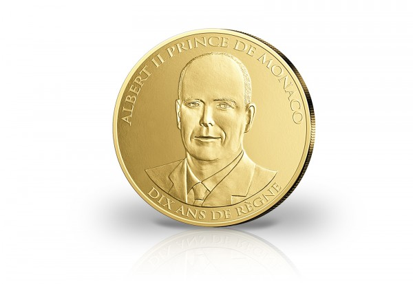 Monaco 100 Euro Gold 2015 10 Jahre Regentschaft Pp Monaco Euro