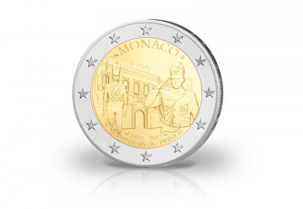 Monaco 2 Euro Gedenkmünze 2017 Pp 200 Jahre Karabinierskompanie