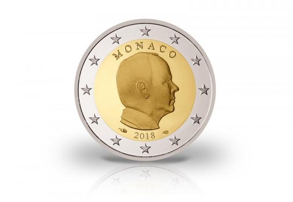 2 Euro 2018 Monaco Fürst Albert Ii Bfr Monaco Euro Münzen
