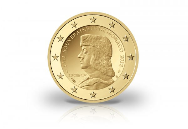 Monaco 2 Euro Souveränität Veredelt Nach Unserer Wahl Monaco