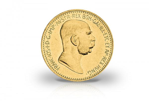 österreich 10 Kronen Gold 1912 Franz Josef I Handelsgoldmünze