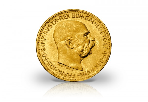österreich 20 Kronen 1915 Franz Joseph I Gold Historische