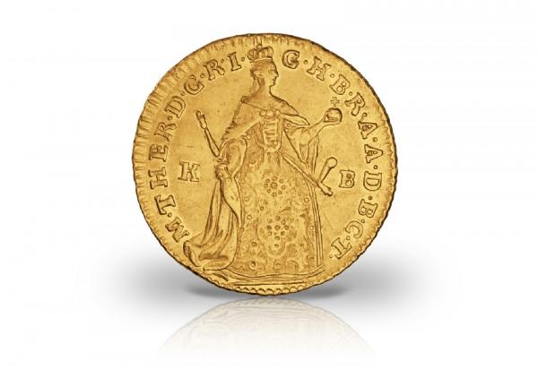 österreich Dukat Goldmünze 1741 1765 Stehende Maria Theresia Vz