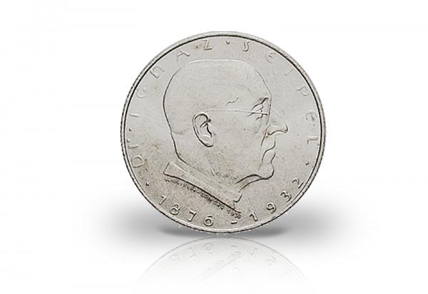 österreich 2 Schilling Silbermünze Seipel 1933