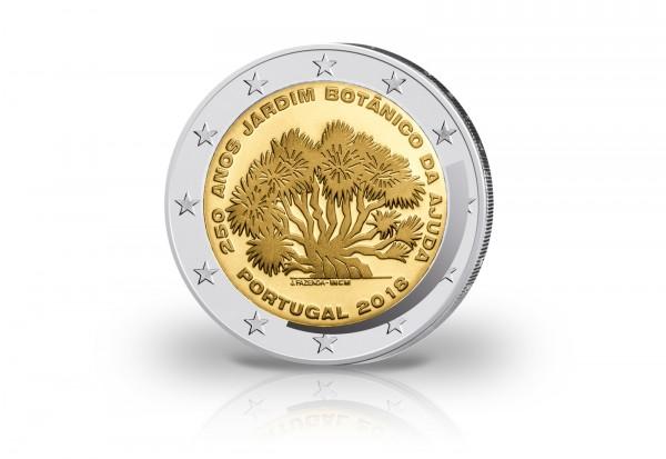 Portugal 2 Euro Gedenkmünze 2018 250. Jahre Botanischer Garten Ajuda