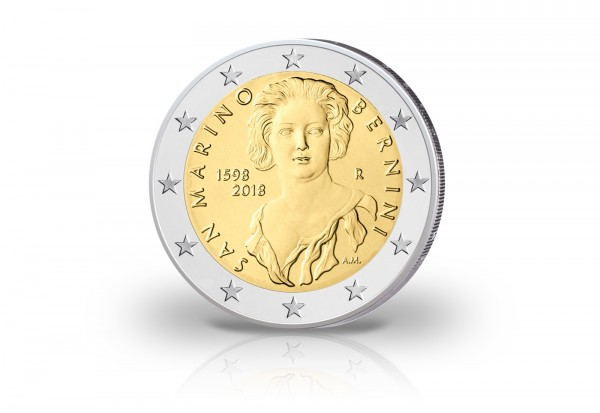 San Marino 2 Euro Gedenkmünze 2018 St 420 Geburtstag Von Gian
