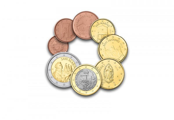 San Marino Eurosatz 2018 San Marino Euro Münzen Münzen Primus