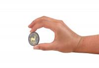 Zusatzbild zu Krügerrand 1 oz Silber 2019 Südafrika veredelt mit Ruthenium und 24 Karat Goldapplikation