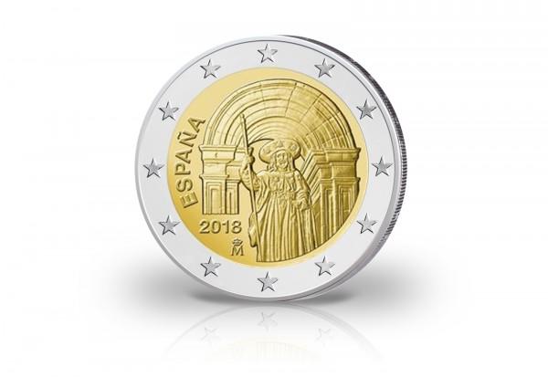 Spanien 2 Euro 2018 Unesco Santiago De Compostela Spanien Euro