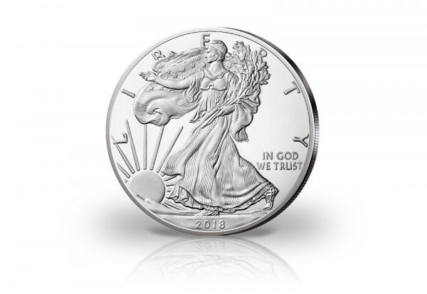 USA 1 Unze Silbermünze Silver Eagle 2018