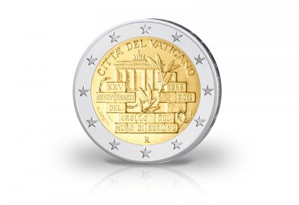 2 Euro 2014 Vatikan 25 Jahre Mauerfall St Vatikan Euro Münzen