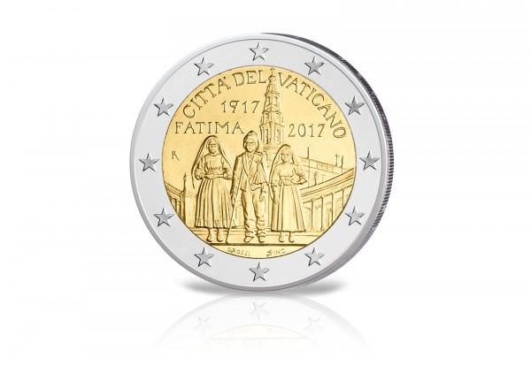 Vatikan 2 Euro Gedenkmünze 2017 Pp 100 Jahre Der Erscheinung Von