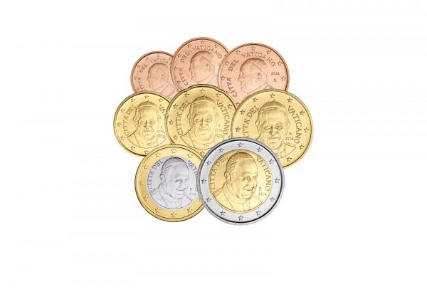 Vatikan Eurosatz 2014 Vatikan Euro Münzen Münzen Primus