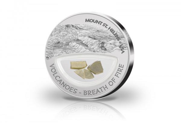 Fiji 10 Dollars Silbermünze 2013 Mount St Helens Silber Welt