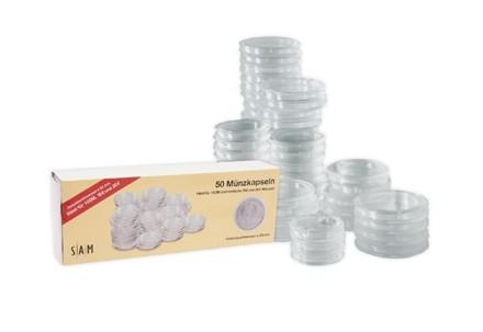 50 Kapseln für BRD 20 Euro- und 10 Euro- / 10 DM-Münzen