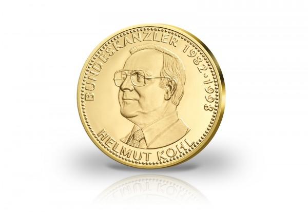 Gold Gedenkprägung Bundeskanzler Helmut Kohl Diverse Gedenkmünzen
