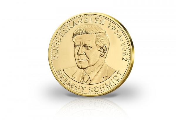 Bundeskanzler Helmut Schmidt Gold Gedenkprägung Primus