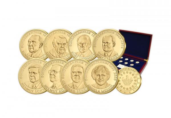Bundeskanzler Komplett Gold Gedenkprägungen Set Primus