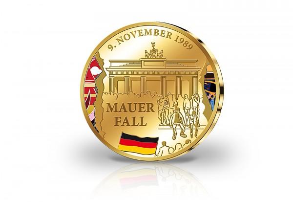Gold Gedenkprägung 25 Jahre Mauerfall 2014 Primus