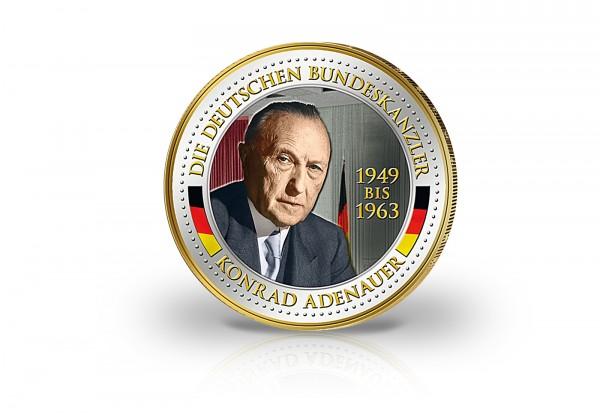Gedenkausgabe 2 Euro Bundeskanzler Konrad Adenauer Mit
