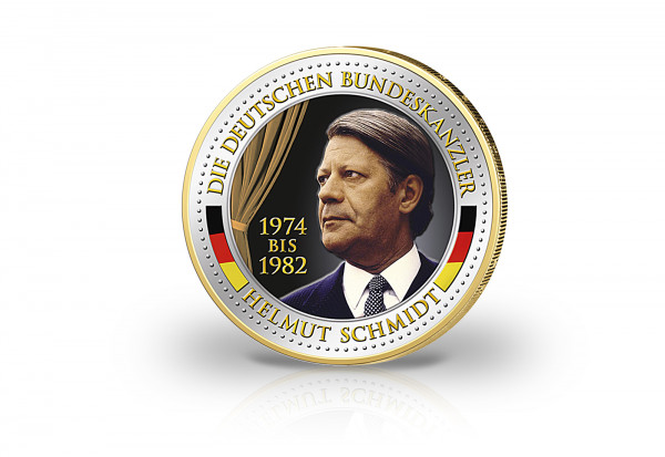 Gedenkausgabe Helmut Schmidt Mit Gold Und Farbe 2 Euro