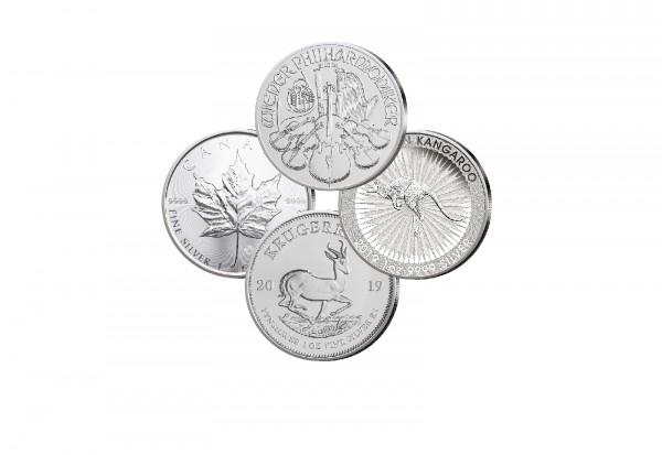 Die Besten Vier 1 oz Silber 2019 Set