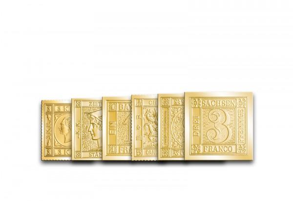 Berühmte Briefmarke der Welt unserer Wahl 999er Goldauflage