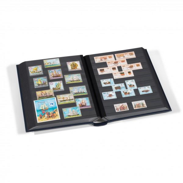 60 Seiten Schwarz In Schwarz Hochwertige Materialien Briefmarkenalbum Einsteckbuch Einsteckalbum