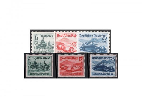 Briefmarken Deutsches Reich 1939 Nürburgrennen Und