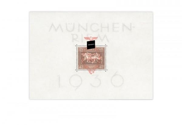 Deutsches Reich Braunes Band 1937 Block 10 Postfrisch Drittes