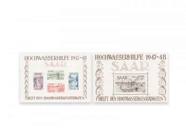 Saar Block 1/2 Falz Hochwasserhilfe 1947/48
