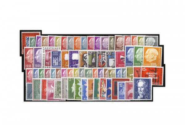 Komplett Kollektion OPD Saarbrücken Michel-Nr. 379/448 postfrisch
