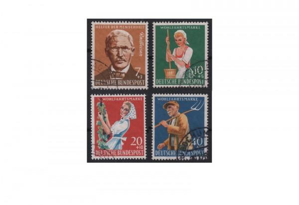 Brd Wohlfahrt Landwirtschaft 1958 Minr 297300 Gestempelt