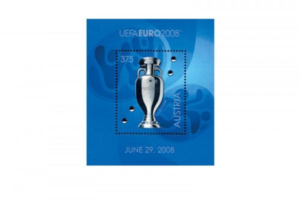 Österreich UEFA Pokal Block 43 mit Swarovski-Kristallen postfrisch