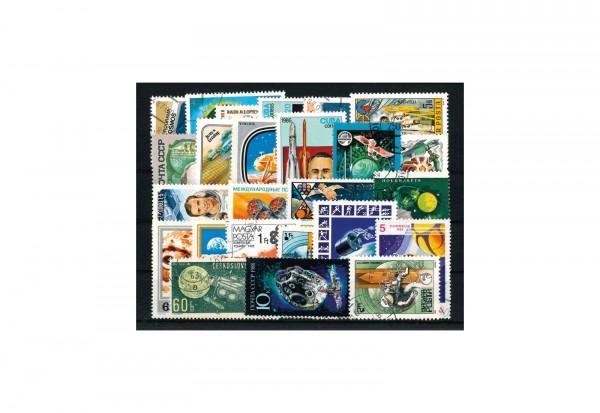 Briefmarken Paket Weltraum 25 verschiedene Marken